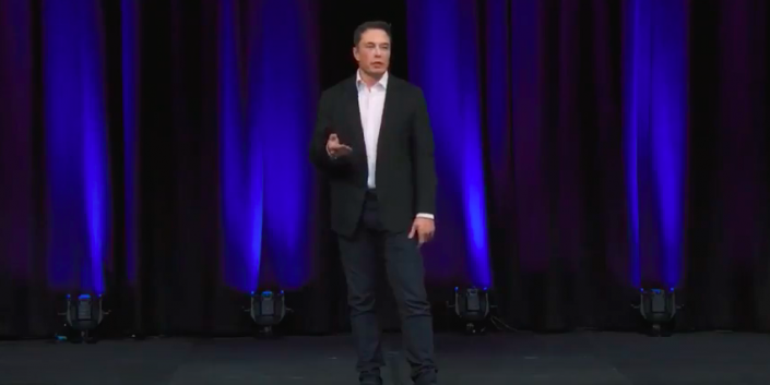 Elon Musk authentic presenting
